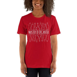 womens wine tshirts Red / S Master Of The Decanter (v2)