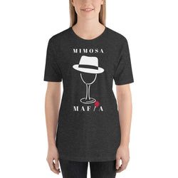 womens wine tshirts Dark Grey Heather / XS Mimosa Mafia (v1)
