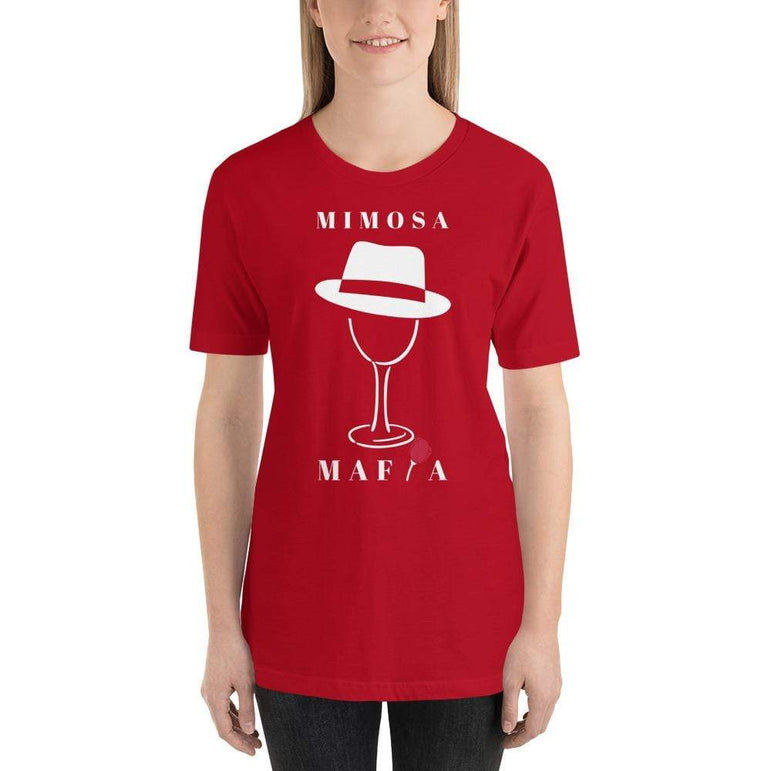 womens wine tshirts Red / S Mimosa Mafia (v1)
