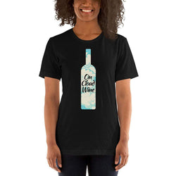 womens wine tshirts Black / XS On Cloud Wine (v1)