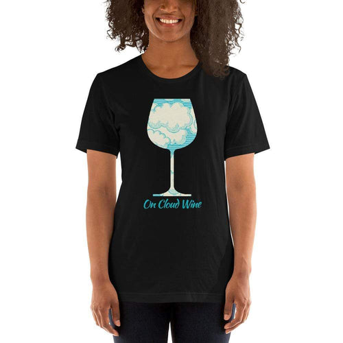 womens wine tshirts Black / XS On Cloud Wine (v2)