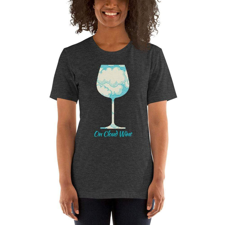 womens wine tshirts Dark Grey Heather / XS On Cloud Wine (v2)
