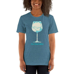 womens wine tshirts Heather Deep Teal / S On Cloud Wine (v2)