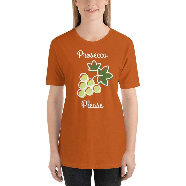 womens wine tshirts Autumn / S Prosecco Please (v1)