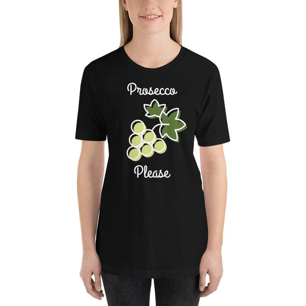 womens wine tshirts Black / XS Prosecco Please (v1)