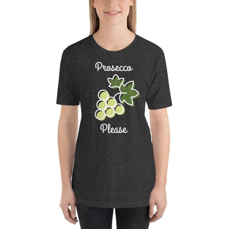 womens wine tshirts Dark Grey Heather / XS Prosecco Please (v1)