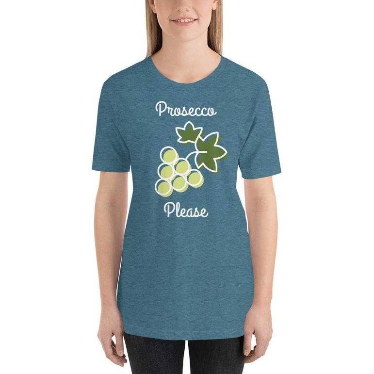 womens wine tshirts Heather Deep Teal / S Prosecco Please (v1)