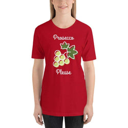 womens wine tshirts Red / S Prosecco Please (v1)