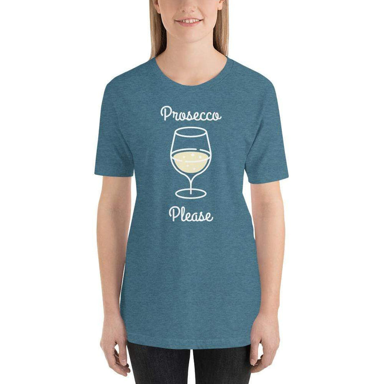 womens wine tshirts Heather Deep Teal / S Prosecco Please (v2)