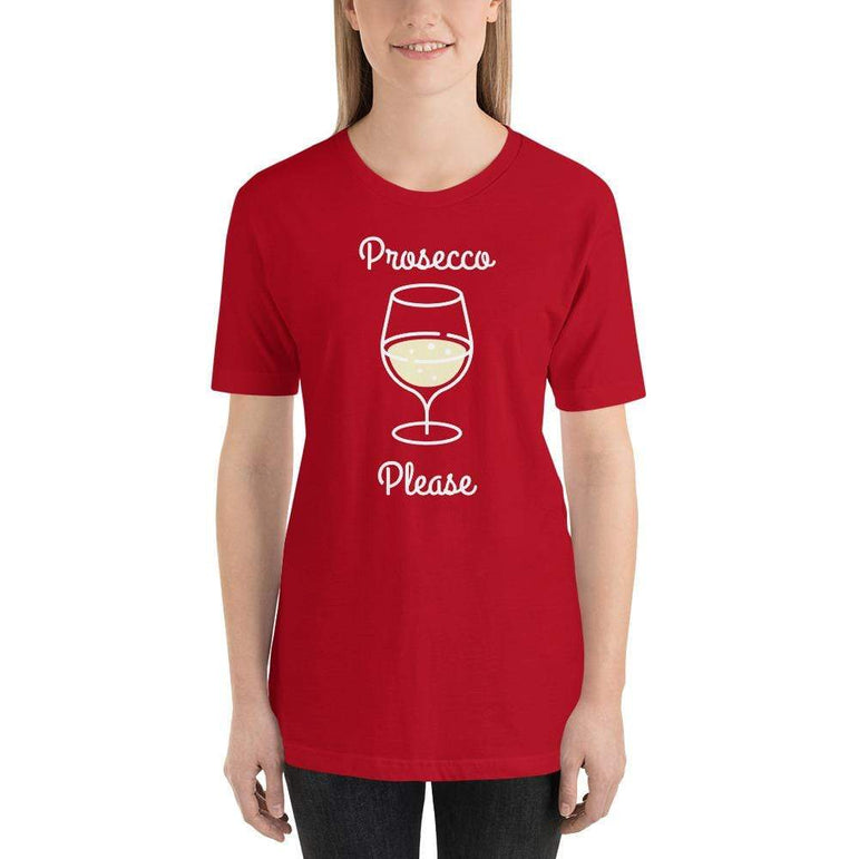 womens wine tshirts Red / S Prosecco Please (v2)