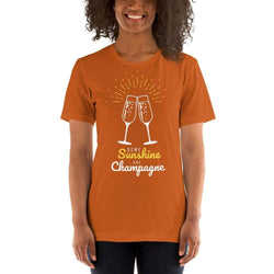 womens wine tshirts Autumn / S Some Sunshine And Champagne (v2)