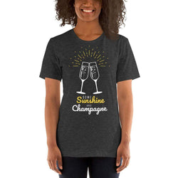 womens wine tshirts Dark Grey Heather / XS Some Sunshine And Champagne (v2)
