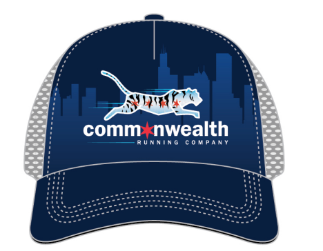 Commonwealth Running Company- Chicago Skyline Trucker Hat 2021