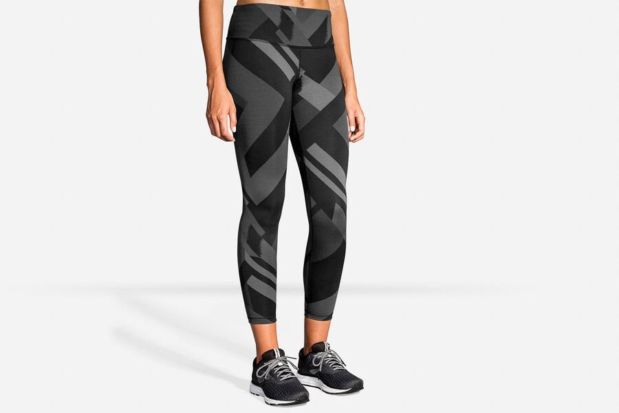 Brooks Formation Crop - Asphalt Eclipse Jacquard