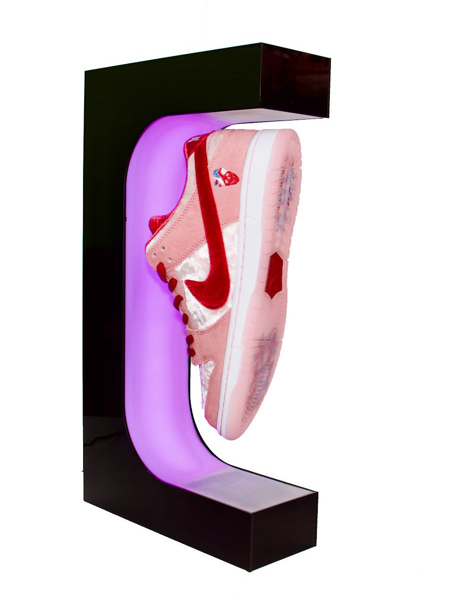 Levitation Lifestyle Glowing Sneaker Display Floating Sneaker Display Best Sneaker Display Levitationlifestyle Co