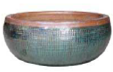 Large Glazed Bowl - Jade Stone