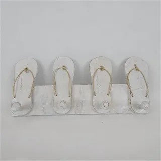 Key hook with (4) jandals - 35cm