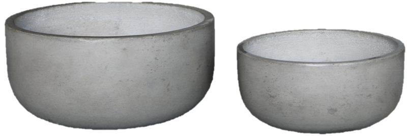 Large Light Cement Pot (Wide Style)