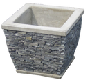 Slate Tapered Pot Medium