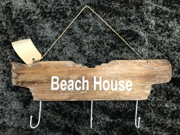 Driftwood (whitewash) -  Beach House Key Hook