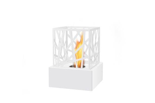 Bio Ethanol Table Top Fireplace - 22cm Square Art Deco Base