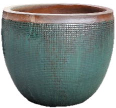 Large Glazed Pot - Jade Stone
