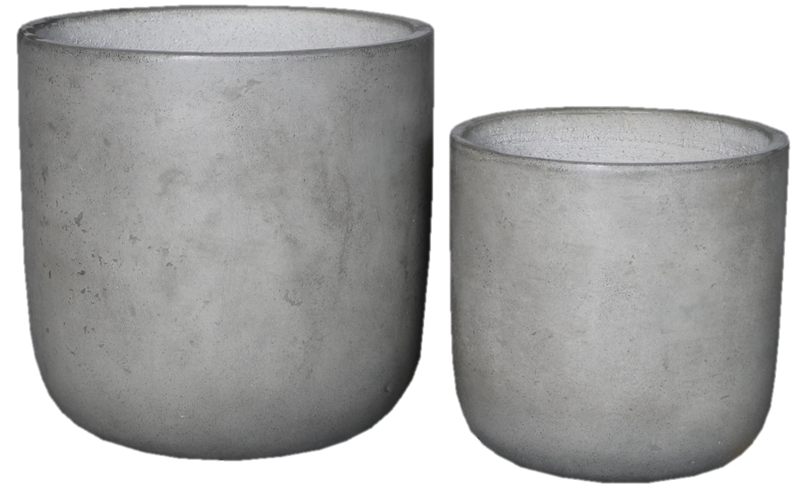 Small Light Cement Pot  (Round Style)