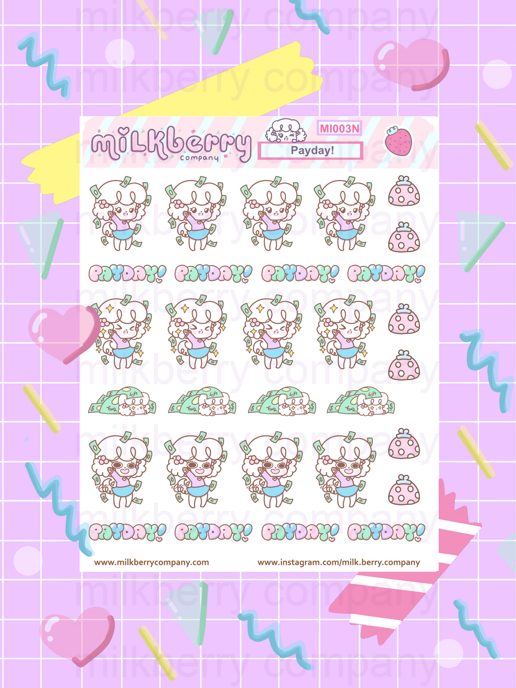 *NEW VERSION* Yay! It's Payday Planner Stickers