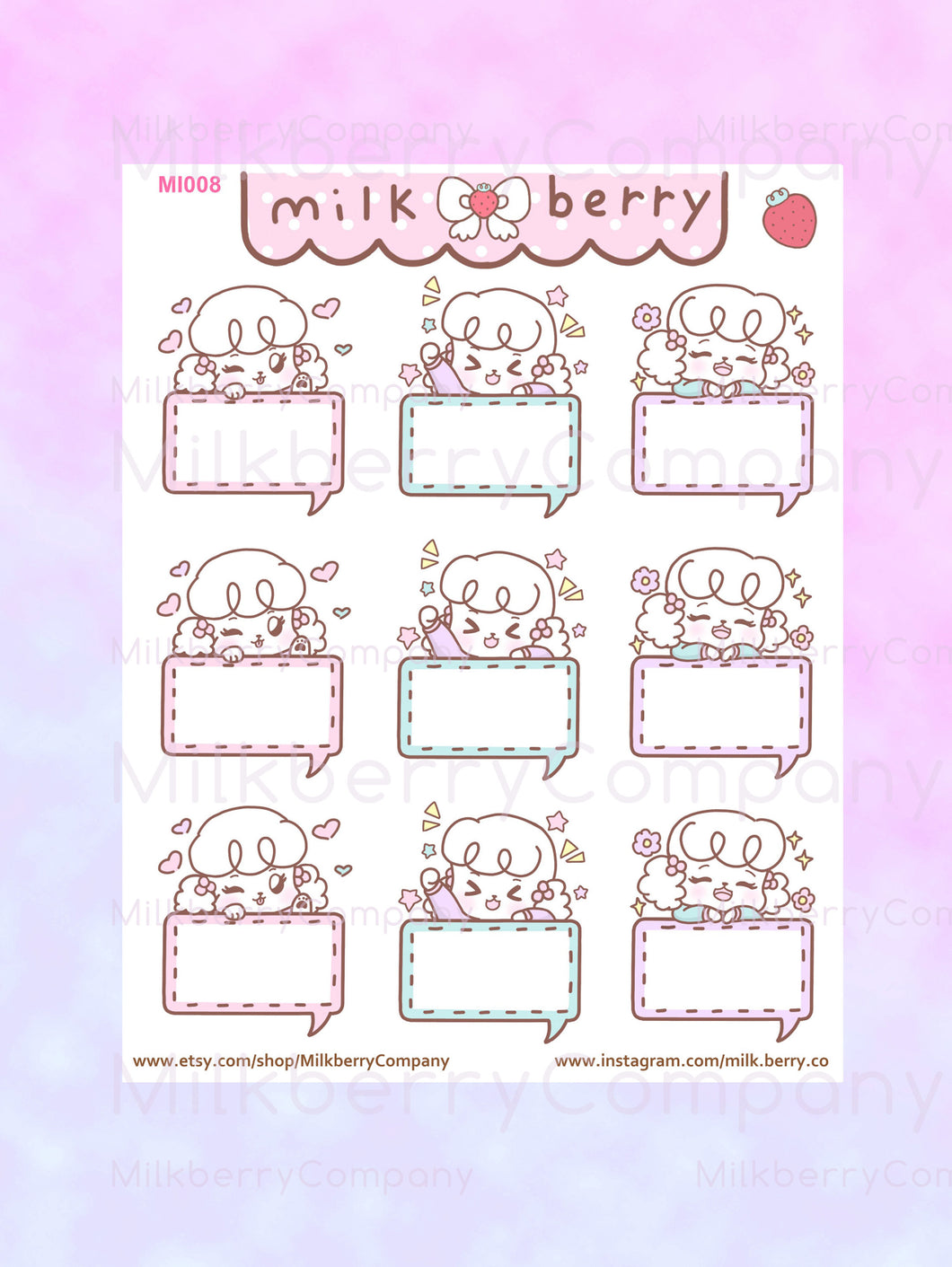Mimi Memo Bubbles Planner Stickers