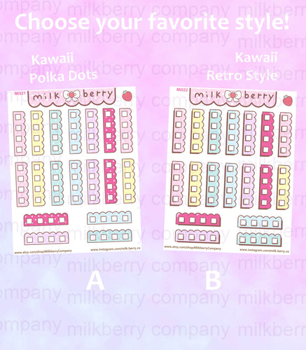 Check it! To-Do Checklist Pastel Kawaii Planner Stickers