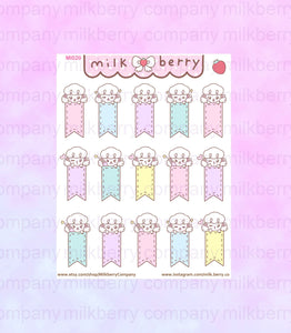 Pastel Planner Flags Mimi Puppy Planner Stickers