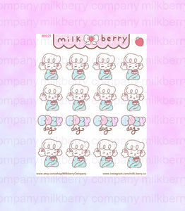 Cozy Time! Tea Coffee Rainy day Kawaii Planner Stickers