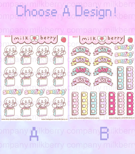 Ready to Shop! Spending Tracker To-Do Checklist Kawaii Planner Stickers