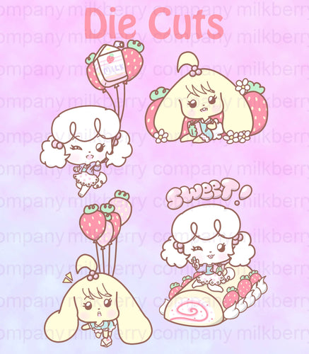 Milkberry Company Strawberry Sweets Party Kawaii Planner Die Cuts