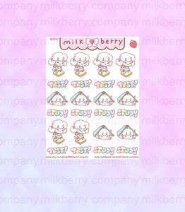 Study Time! Test Student Book Planner Stickers