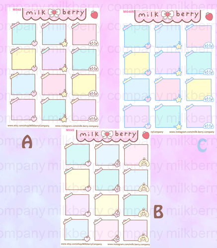 Kawaii Sticky Notes Reminder Cute Planner Stickers