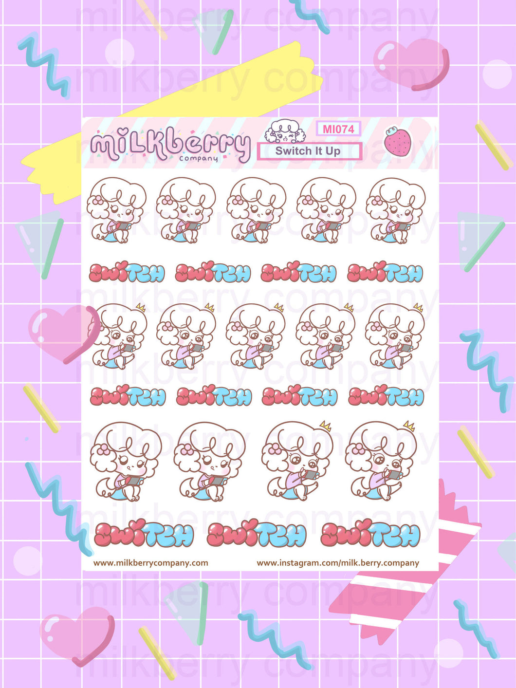 Switch it Up! Switch Gaming Cute Kawaii Planner Stickers