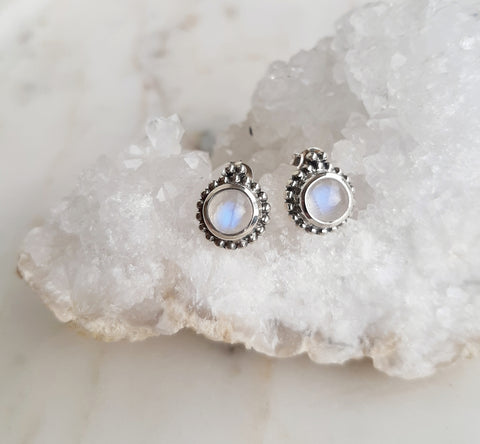 Moonstone Bubble Stud Earrings