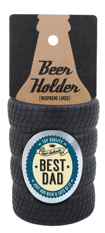Best Dad Tyre Stubby Cooler