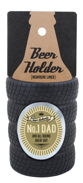 No. 1 Dad Tyre Stubby Cooler