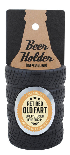 Old Fart Tyre Stubby Cooler