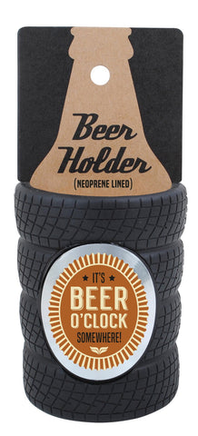 Beer O'clock Tyre Stubby Cooler