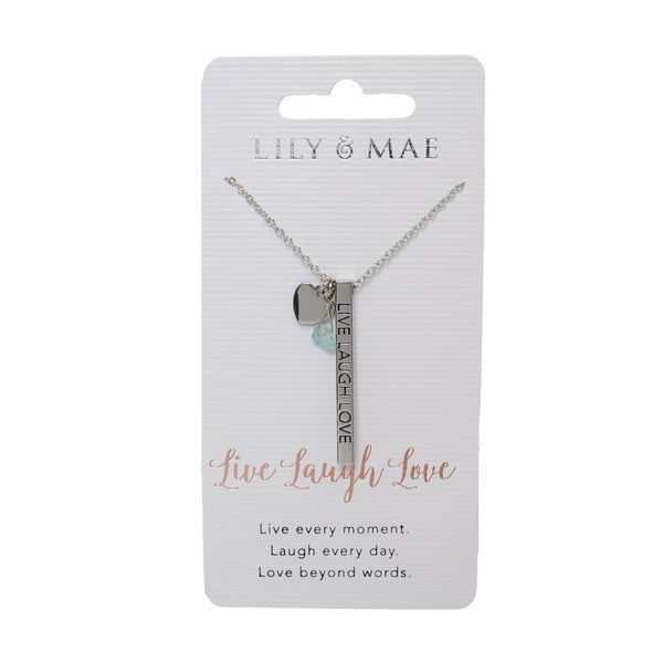 Live Laugh Love - Personalised Necklace