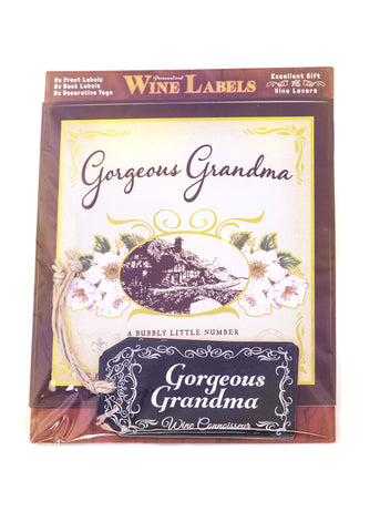 Wine Label - Gorgeous Grandma