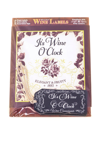 Wine Label - It's Wine O'clock