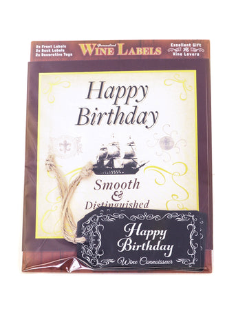 Wine Label - Happy Birthday