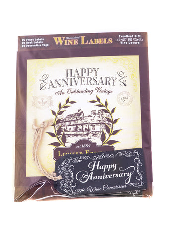 Wine Label - Happy Anniversary
