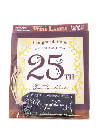 Wine Label - 25th