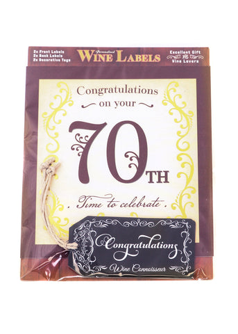 Wine Label - 70th