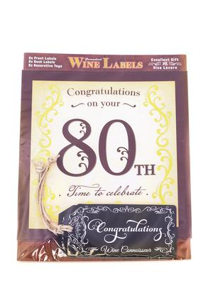 Wine Label - 80th